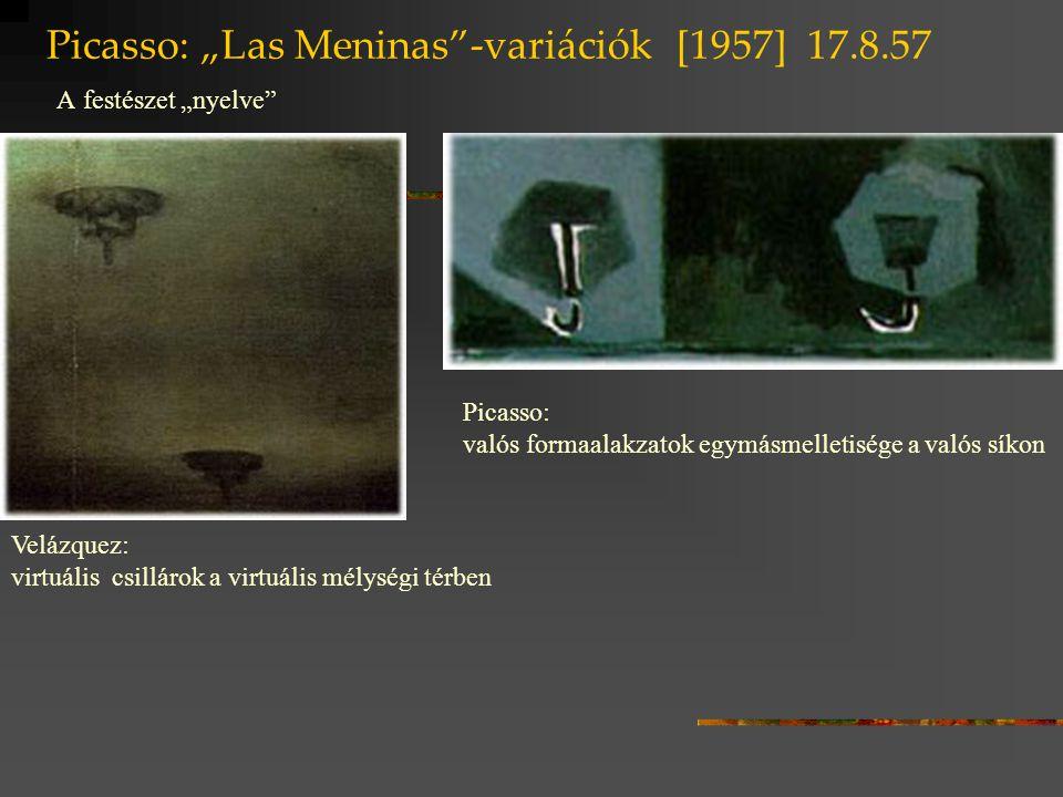 """Picasso: """"Las Meninas -variációk [1957] 17.8.57 A festészet """"nyelve"""